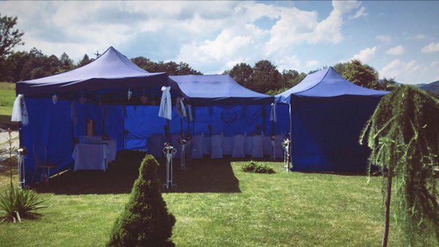 Wypożyczenie namiotu na wesele w domu